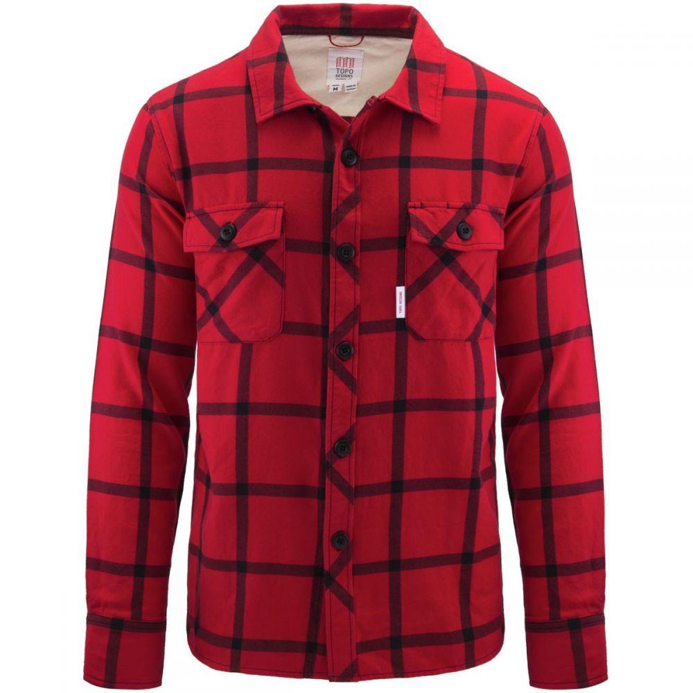 トポ デザイン Topo Designs メンズ シャツ トップス【Field Plaid Shirt】Black/Red