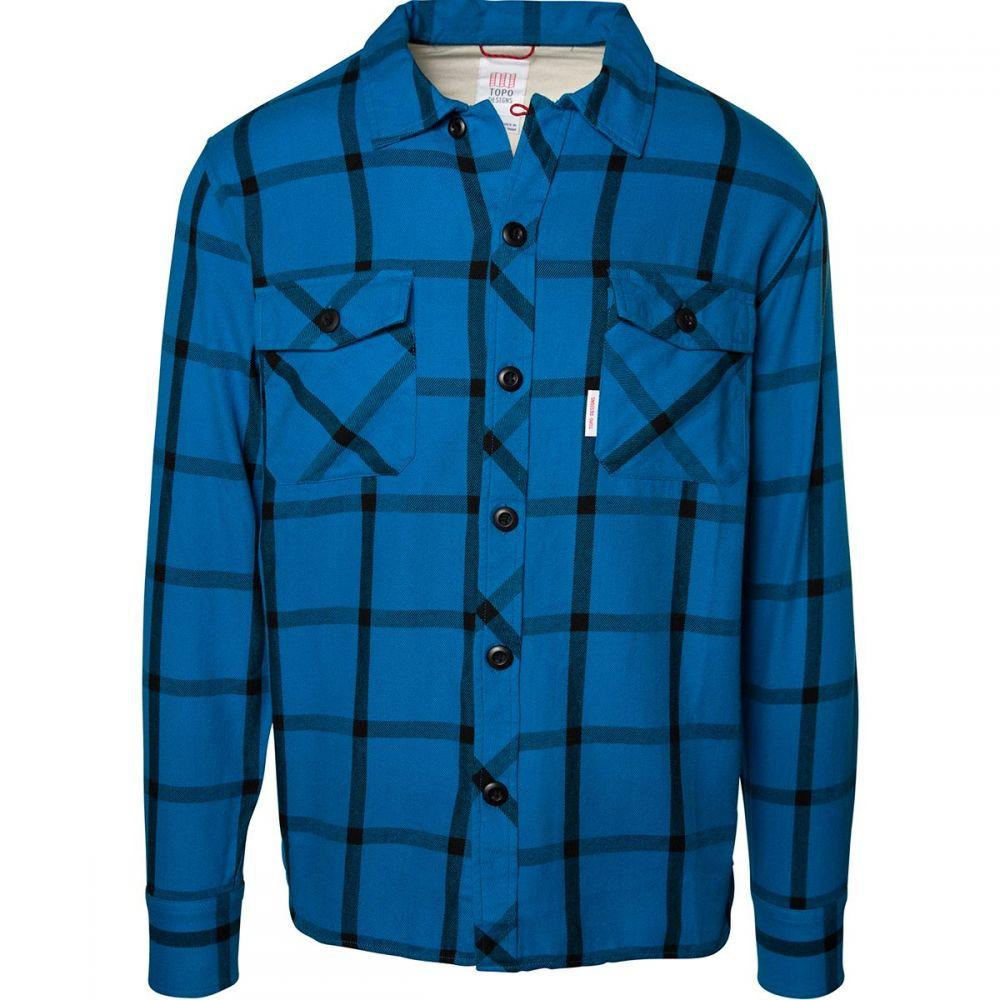 トポ デザイン Topo Designs メンズ シャツ トップス【Field Plaid Shirt】Blue/Black