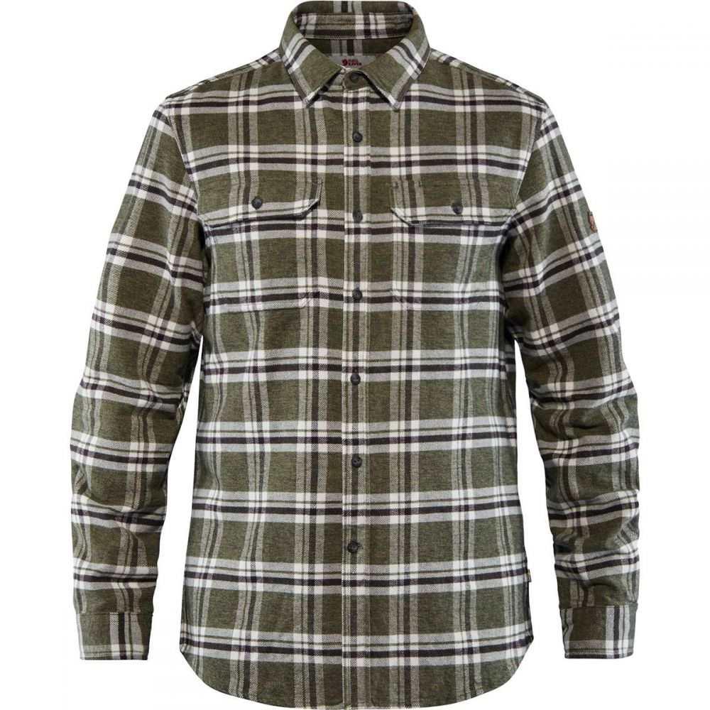 フェールラーベン Fjallraven メンズ シャツ フランネルシャツ トップス【Ovik Heavy Flannel Shirt】Deep Forest