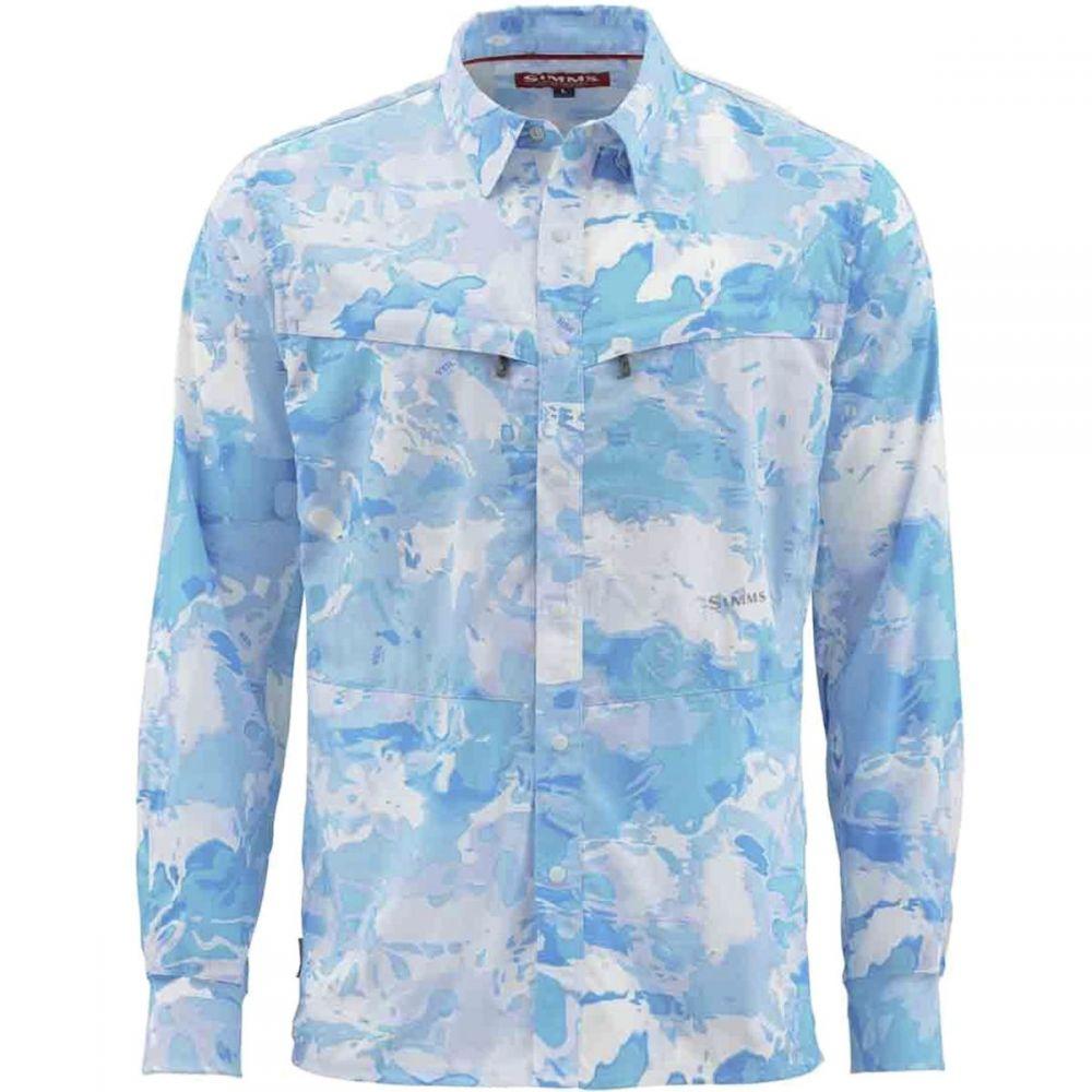 シムズ Simms メンズ シャツ トップス【Intruder BiComp Shirt】Cloud Camo Blue
