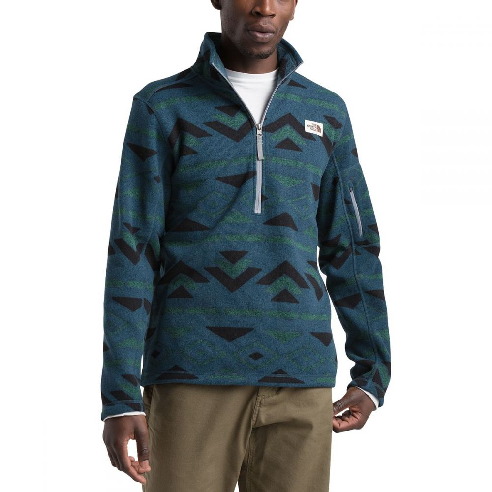 ザ ノースフェイス The North Face メンズ フリース トップス【Novelty Gordon Lyons 1/4 - Zip Fleece Pullover Jacket】Blue Wing Teal California Geo Stripe Print
