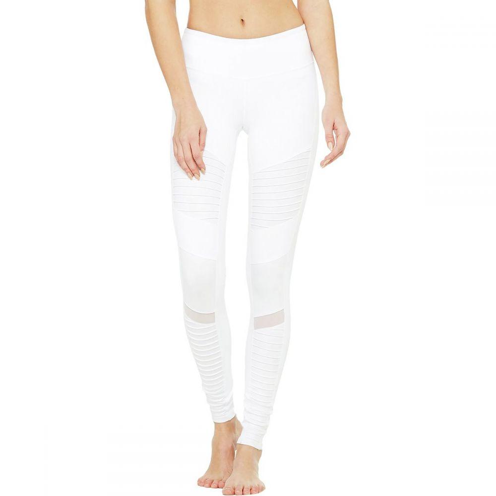アローヨガ ALO YOGA レディース スパッツ・レギンス インナー・下着【Moto Legging】White/White Glossy