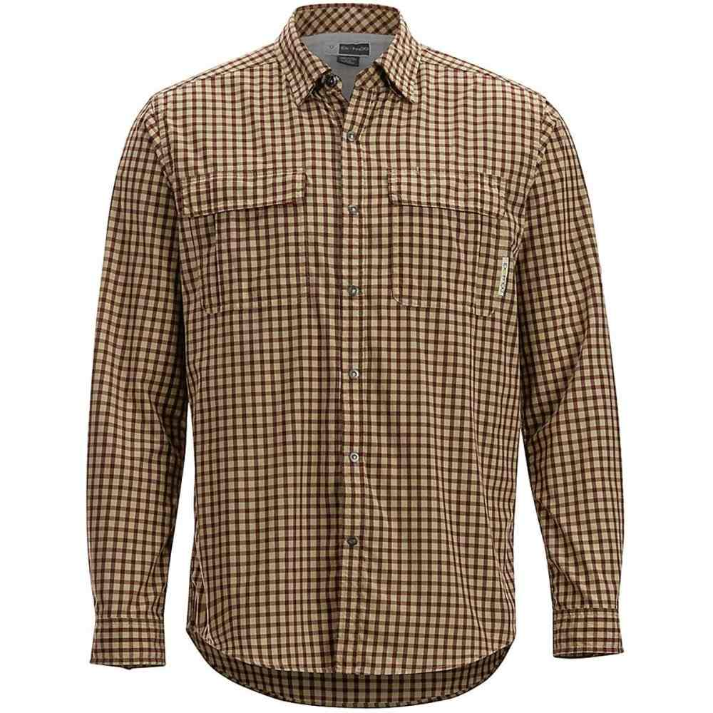 エクスオフィシオ ExOfficio メンズ シャツ トップス【BugsAway Halo Check Long - Sleeve Shirt】Retro Red