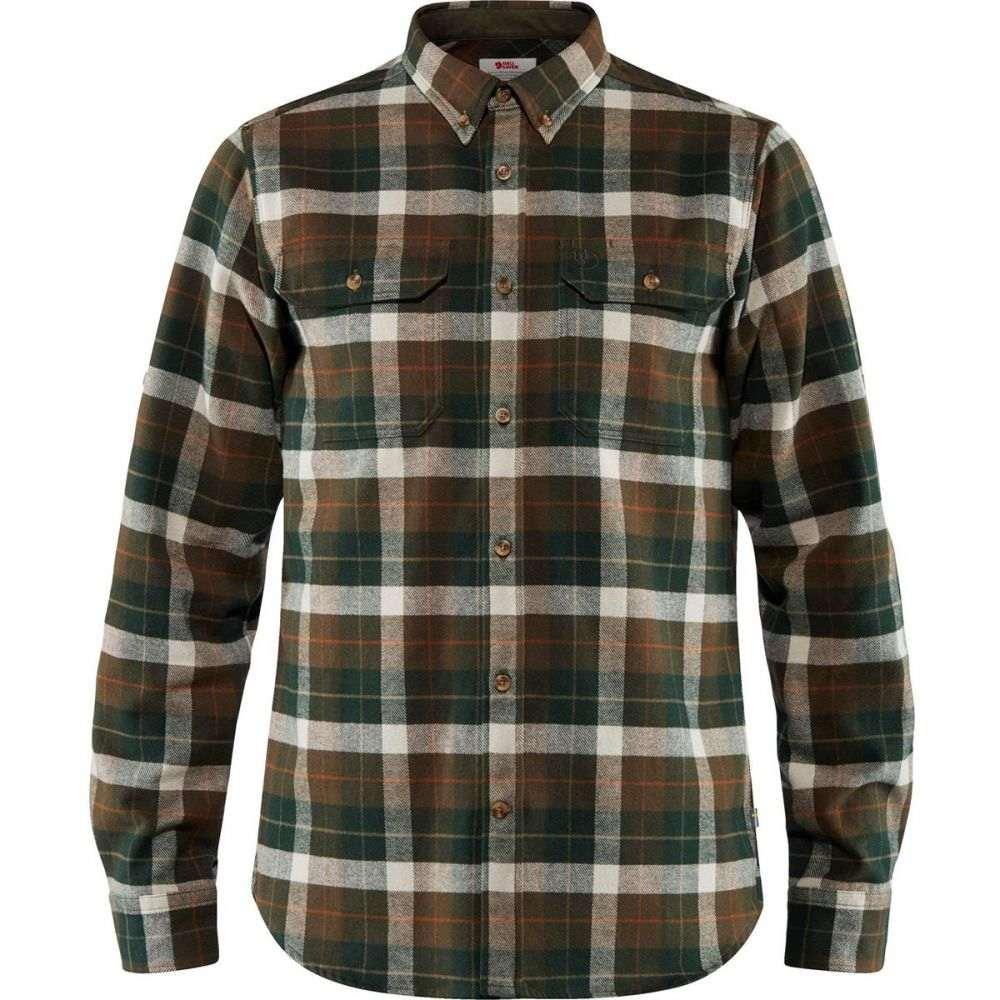 フェールラーベン Fjallraven メンズ シャツ フランネルシャツ トップス【Singi Heavy Regular Fit Flannel Shirt】Deep Forest