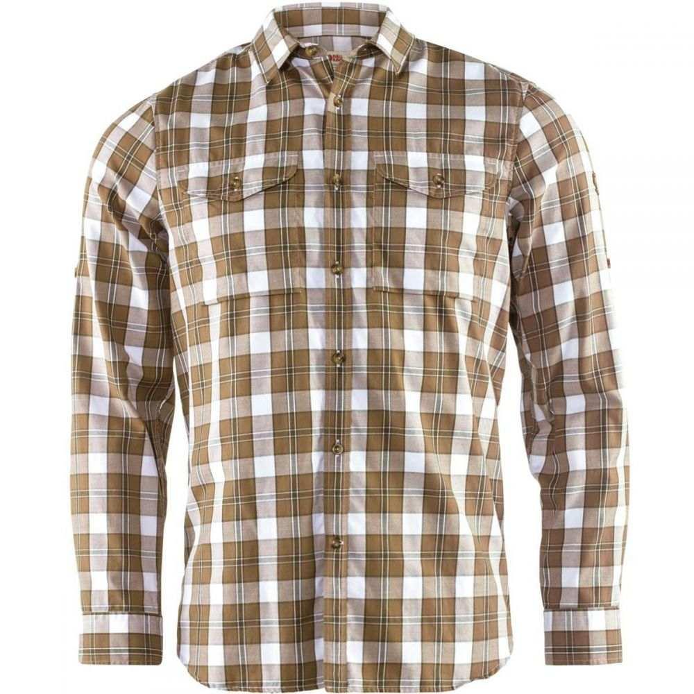 フェールラーベン Fjallraven メンズ シャツ フランネルシャツ トップス【Singi Flannel Shirt】Dark Sand