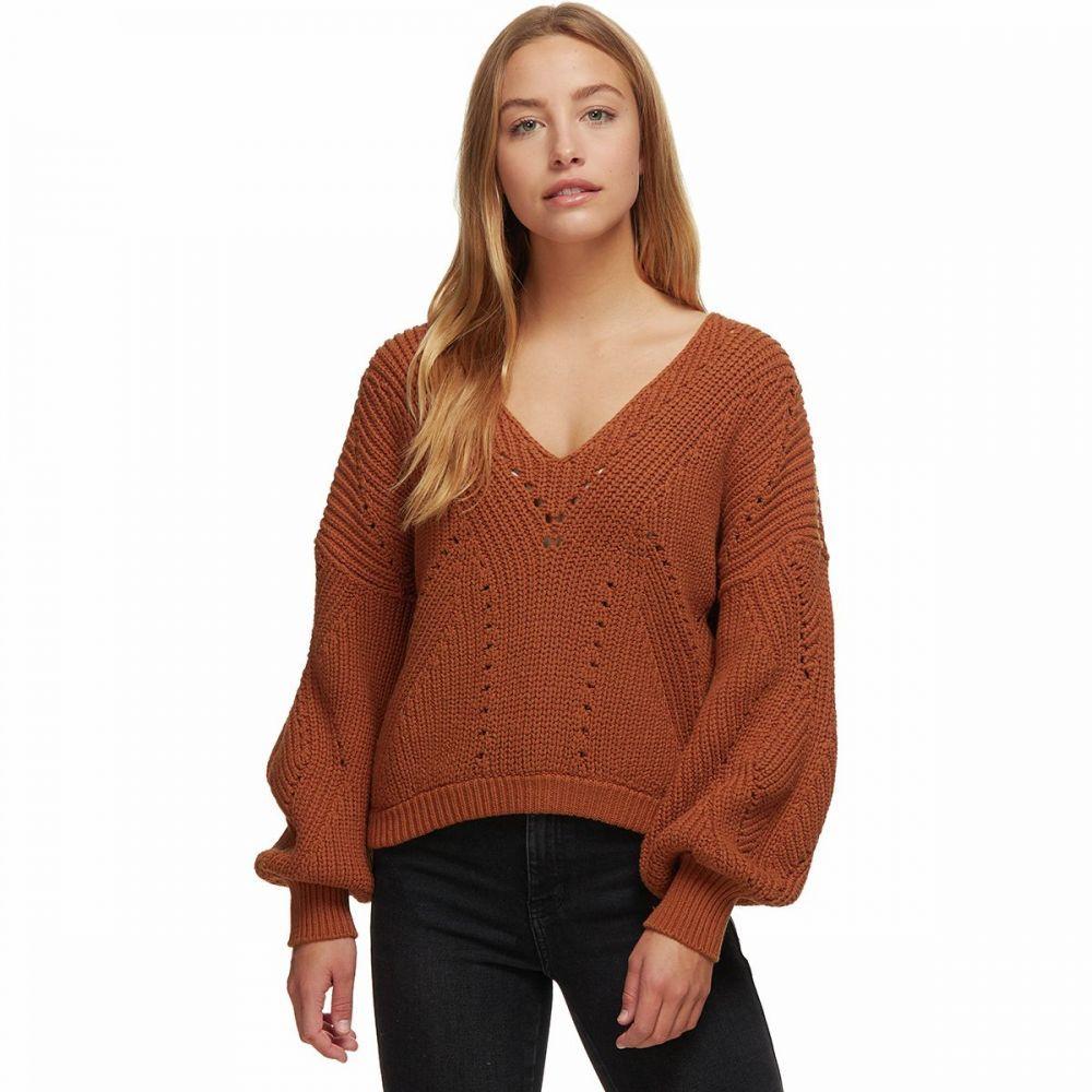 フリーピープル Free People レディース ニット・セーター Vネック トップス【All Day Long V - Neck Sweater】Brown