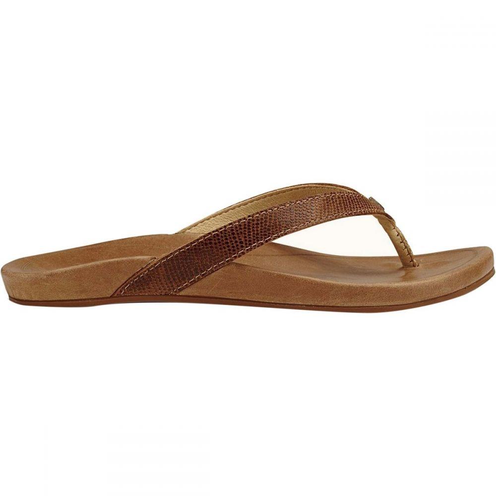 オルカイ Olukai レディース ビーチサンダル シューズ・靴【Hiona Flip - Flop】Tan/Tan