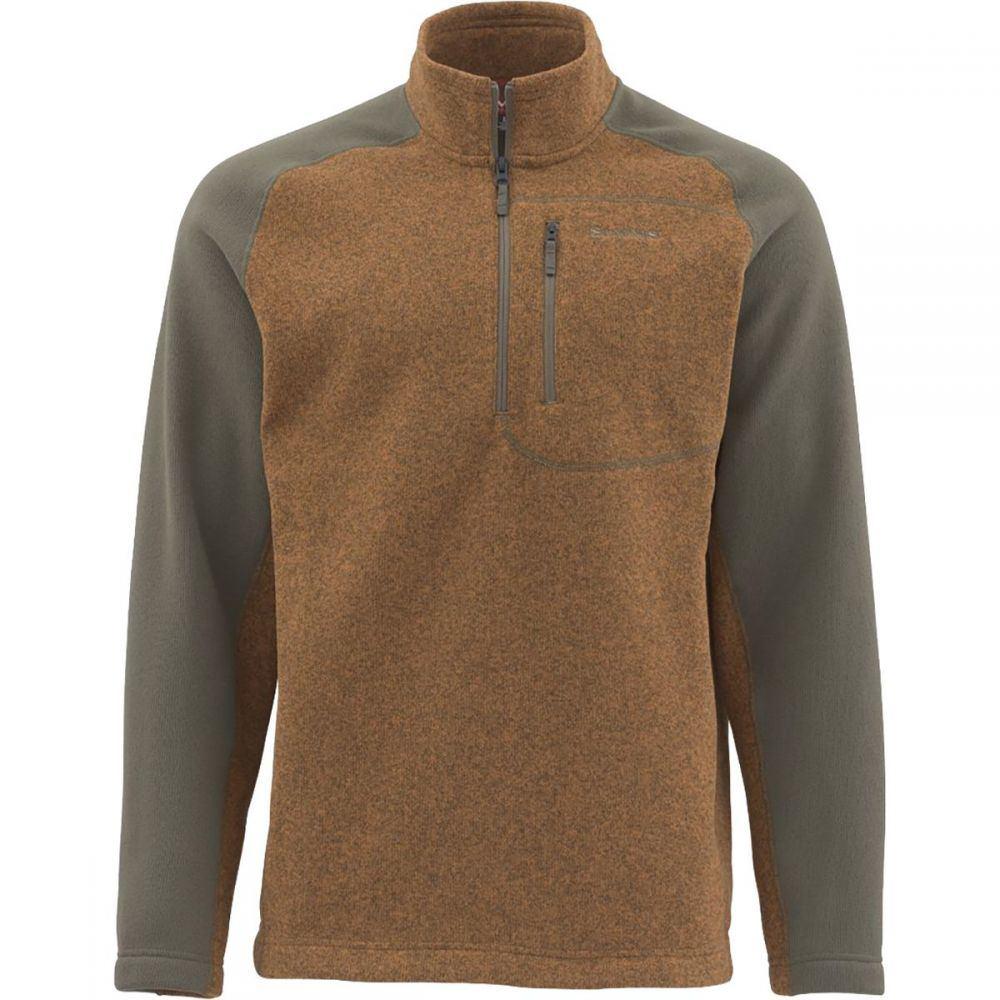 シムズ Simms メンズ フリース トップス【Rivershed 1/4 - Zip Sweater】Saddle Brown