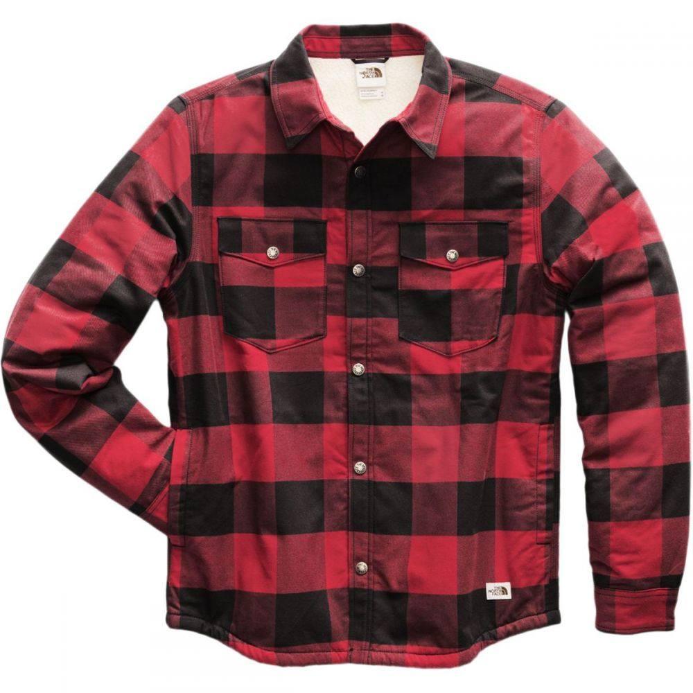 ザ ノースフェイス The North Face メンズ ジャケット フランネルシャツ アウター【Campshire Lined Flannel Shirt】Cardinal Red Blackwatch Plaid
