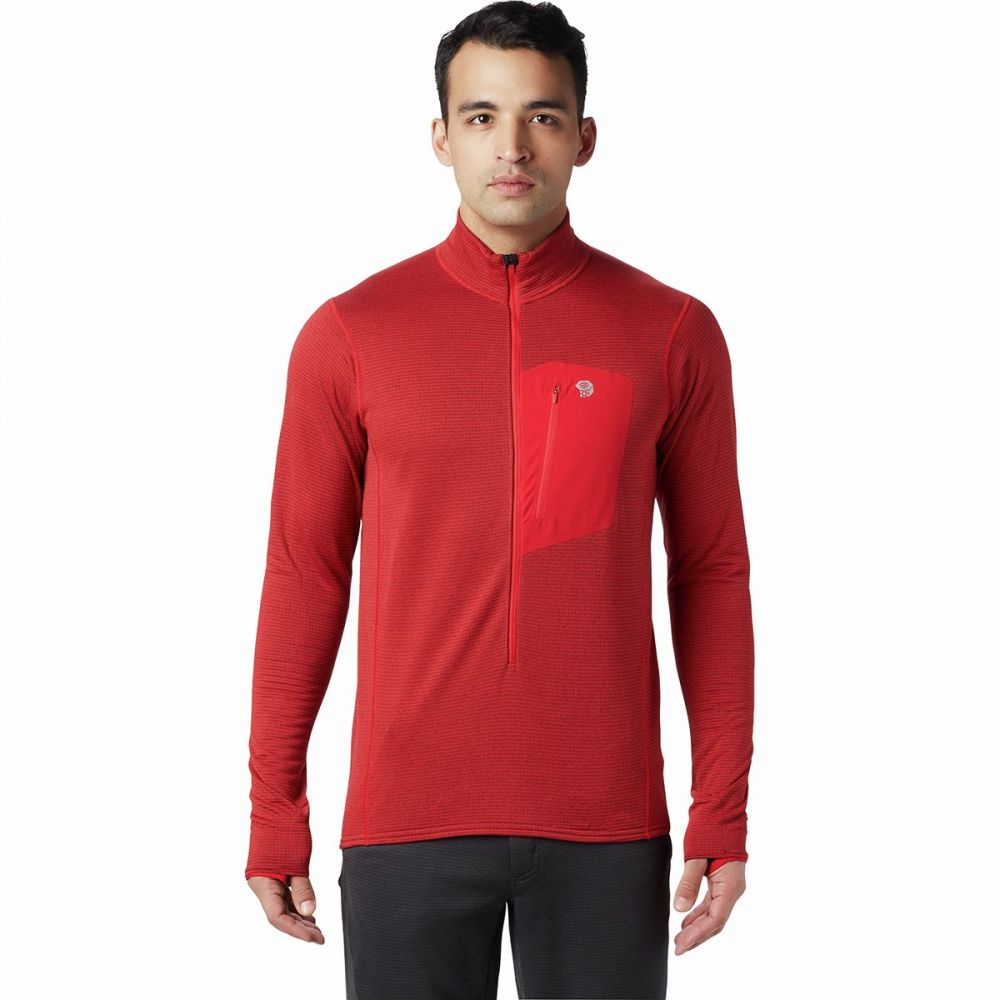 マウンテンハードウェア Mountain Hardwear メンズ フリース トップス【Type 2 Fun 3/4 - Zip Pullover Fleece Jacket】Racer