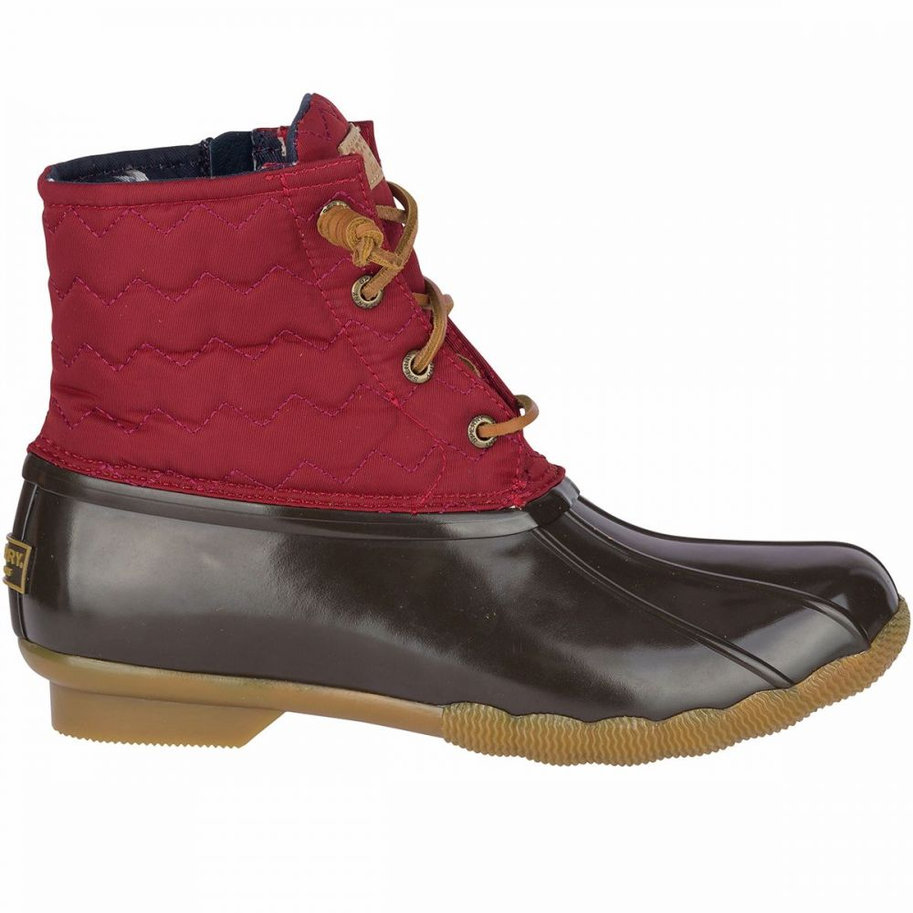 スペリー Sperry Top-Sider レディース ブーツ シューズ・靴【Saltwater Chevron Quilt Nylon Boot】Wine