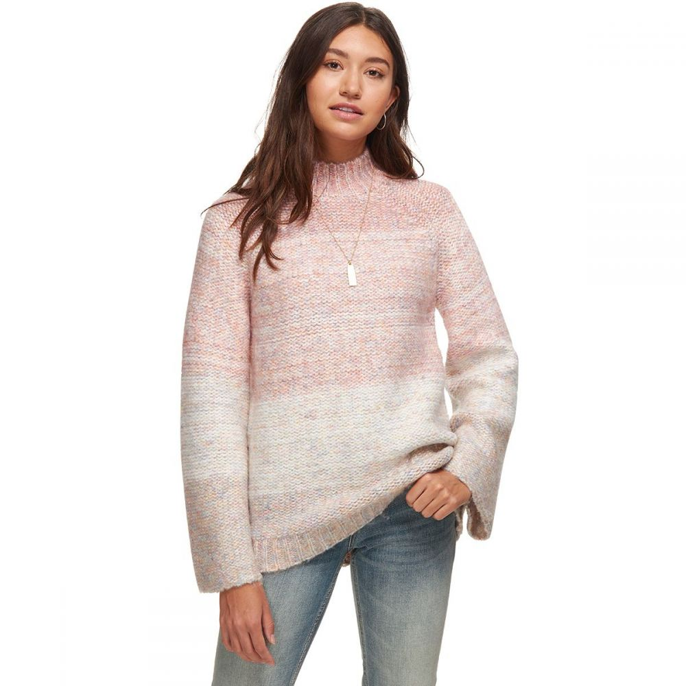 ベイスンアンドレンジ Basin and Range レディース ニット・セーター トップス【Chunky Knit Spacedye Sweater】Pink Multi
