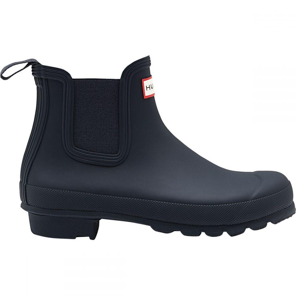 ハンター レディース シューズ・靴 レインシューズ・長靴 Navy 【サイズ交換無料】 ハンター Hunter レディース レインシューズ・長靴 チェルシーブーツ シューズ・靴【Original Chelsea Rain Boot】Navy