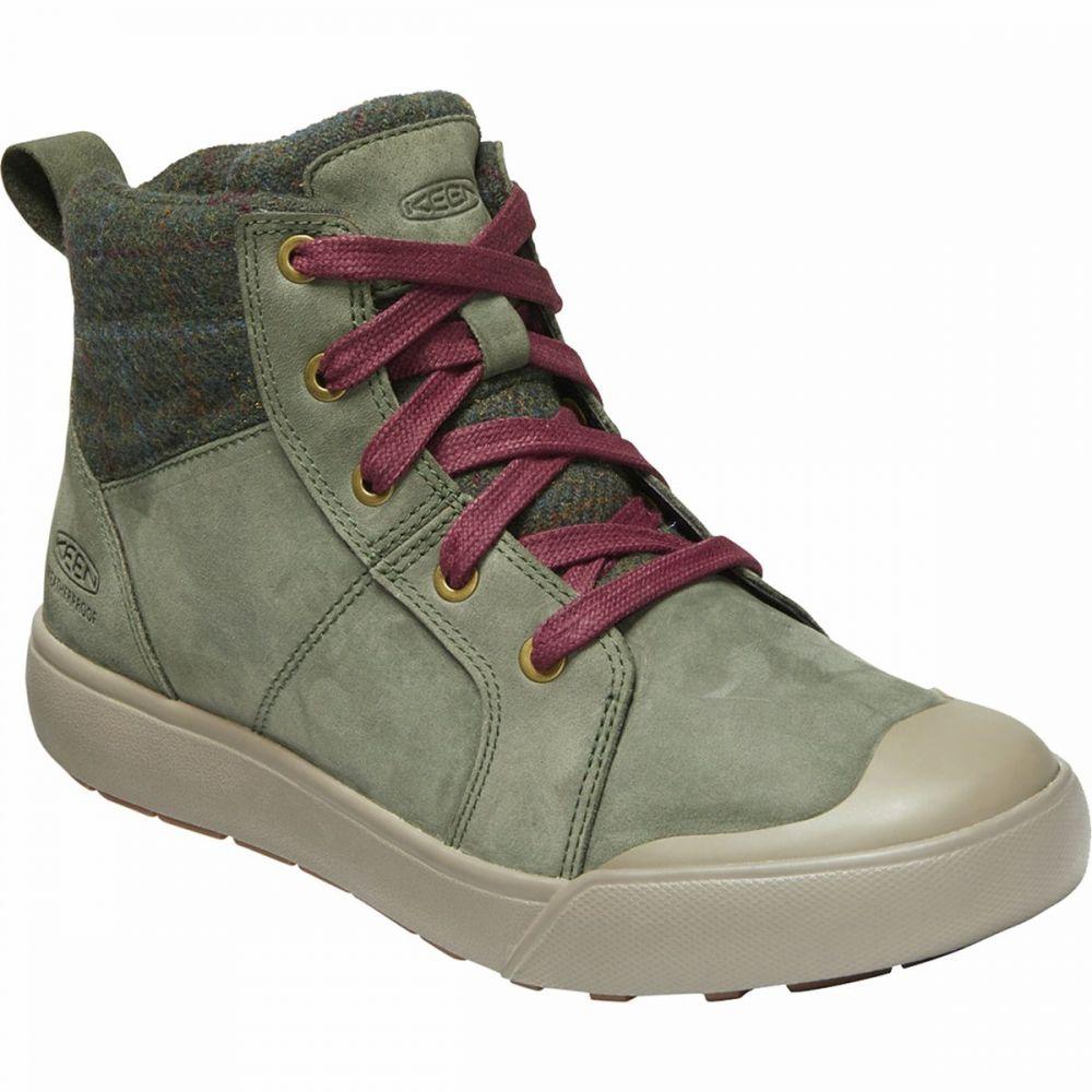 キーン KEEN レディース ブーツ シューズ・靴【Elena Mid Boot】Climbing Ivy/Plaid