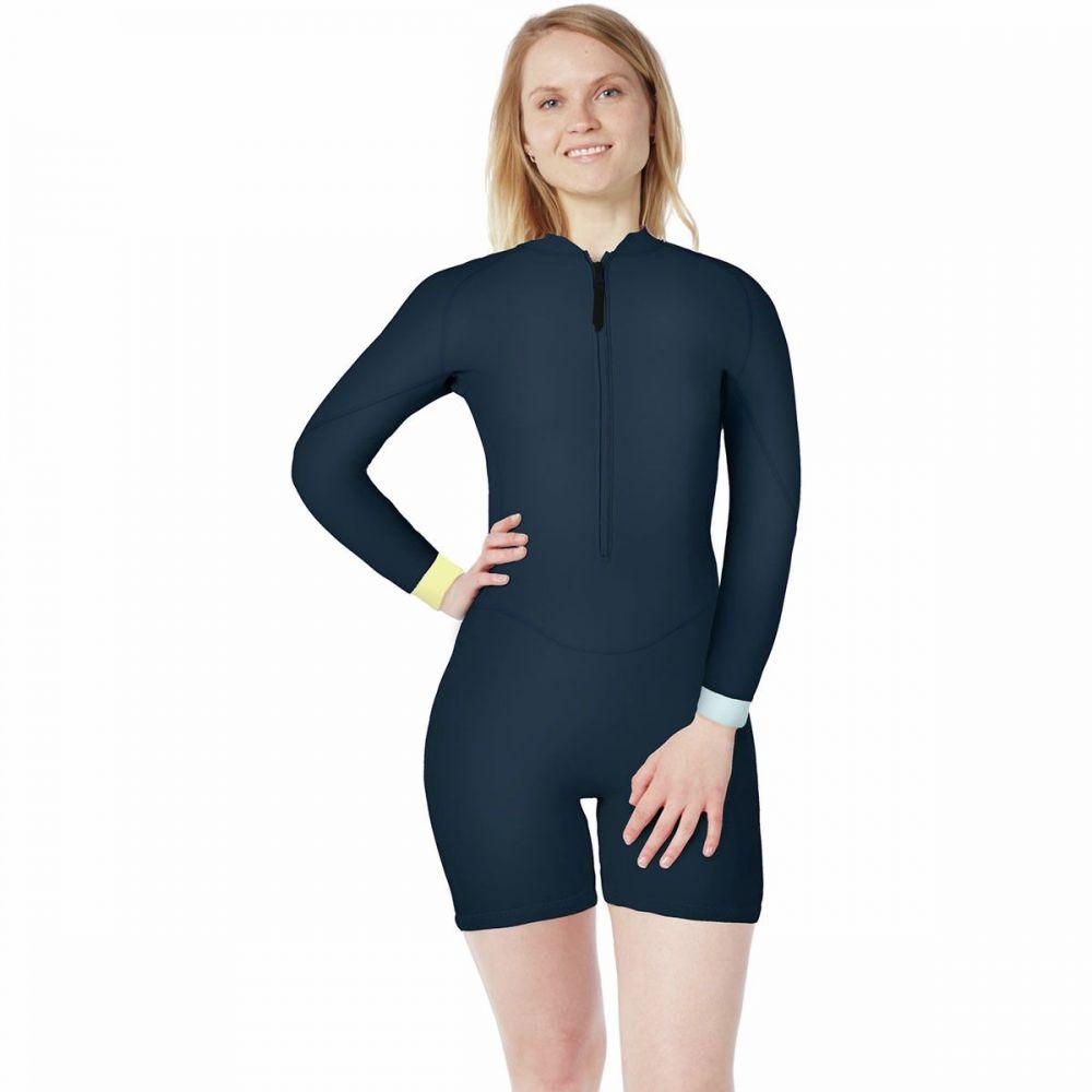レベル6 Level 6 レディース ウェットスーツ 水着・ビーチウェア【Gamora 1.2mm Front - Zip Long - Sleeve Springsuit】Navy