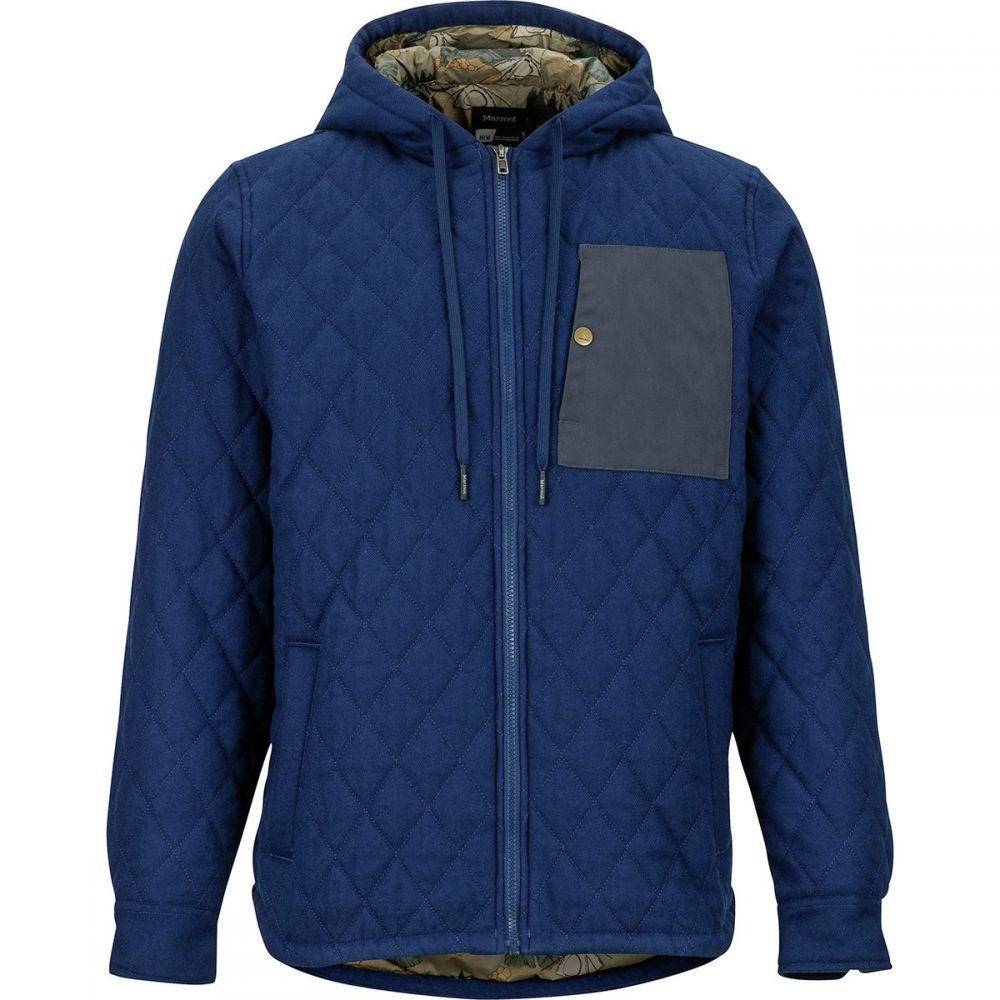 マーモット Marmot メンズ ジャケット アウター【Mt. Rose Insulated Flannel Long - Sleeve Jacket】Arctic Navy