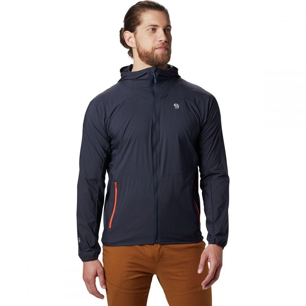 マウンテンハードウェア Mountain Hardwear メンズ ジャケット フード アウター【Kor Preshell Hooded Jacket】Dark Zinc