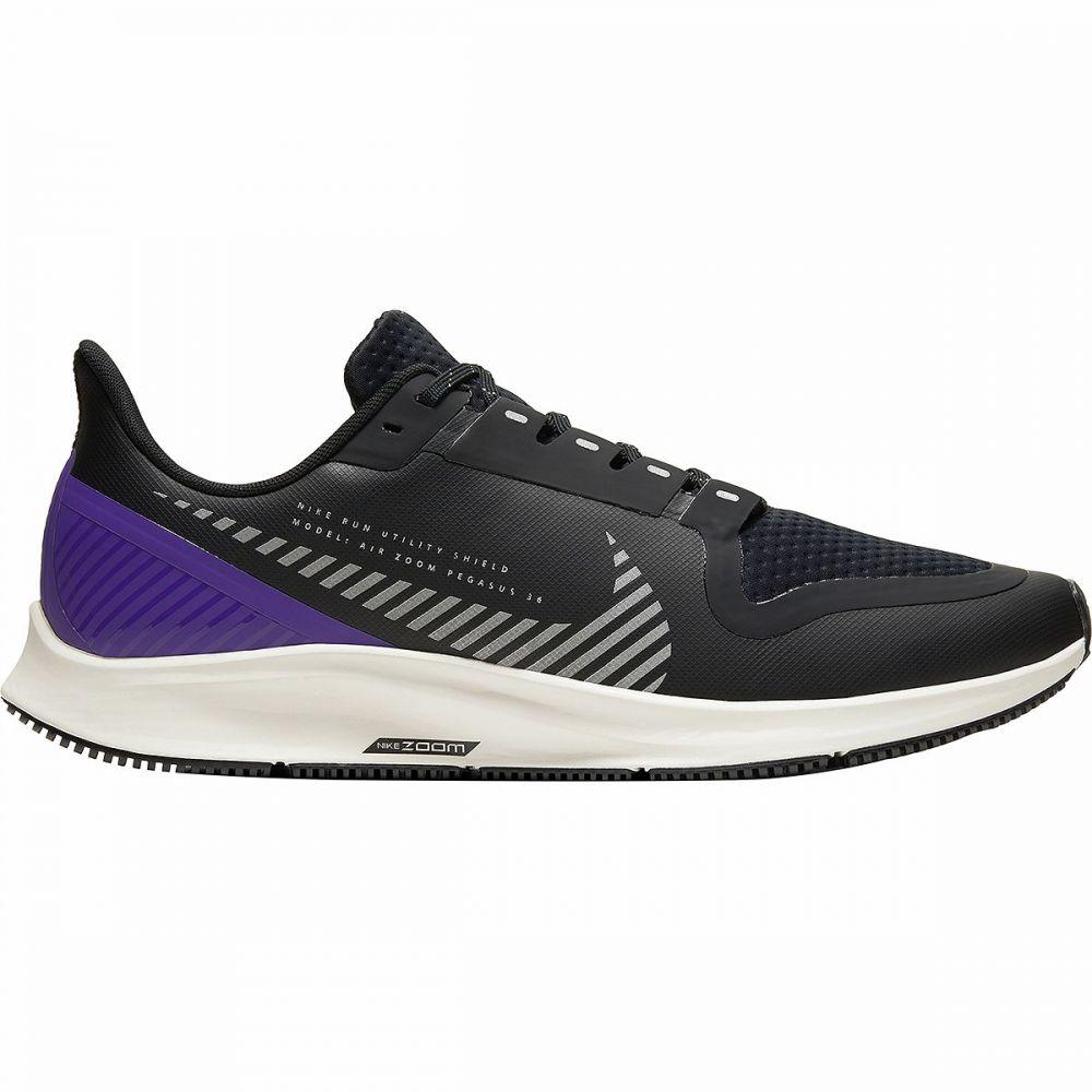 ナイキ Nike メンズ ランニング・ウォーキング エアズーム シューズ・靴【Air Zoom Pegasus 36 Shield Running Shoe】Black/Silver-Desert Sand-Voltage Purple