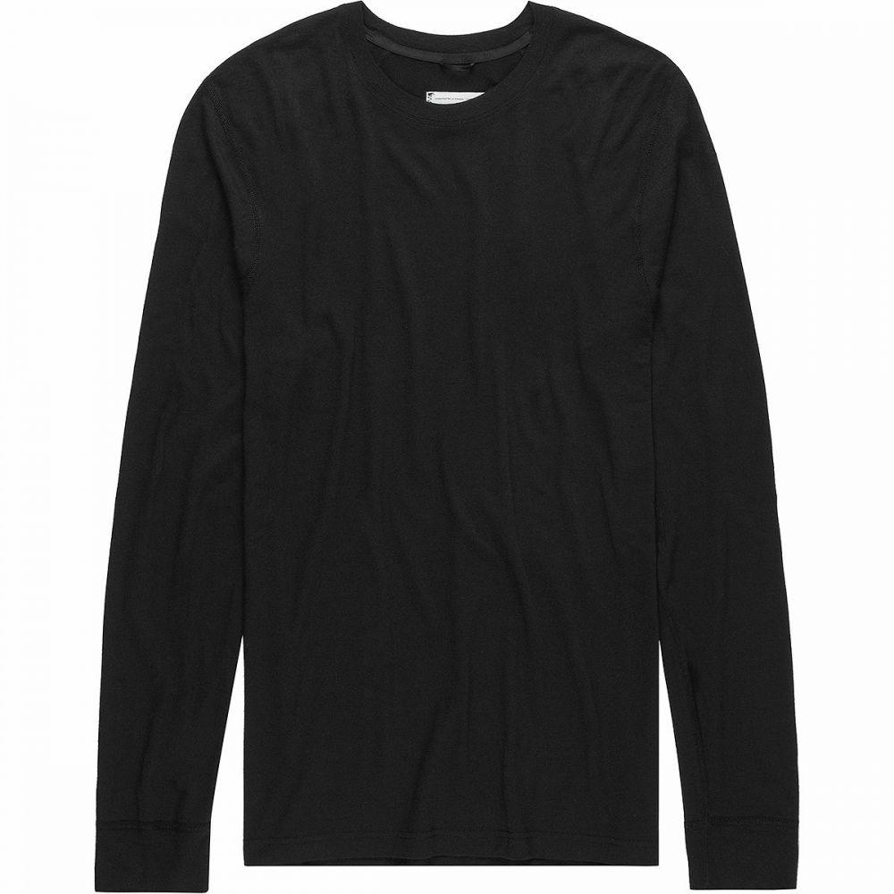 レイニングチャンプ Reigning Champ メンズ 長袖Tシャツ トップス【Merino Jersey Long - Sleeve T - Shirt】Black