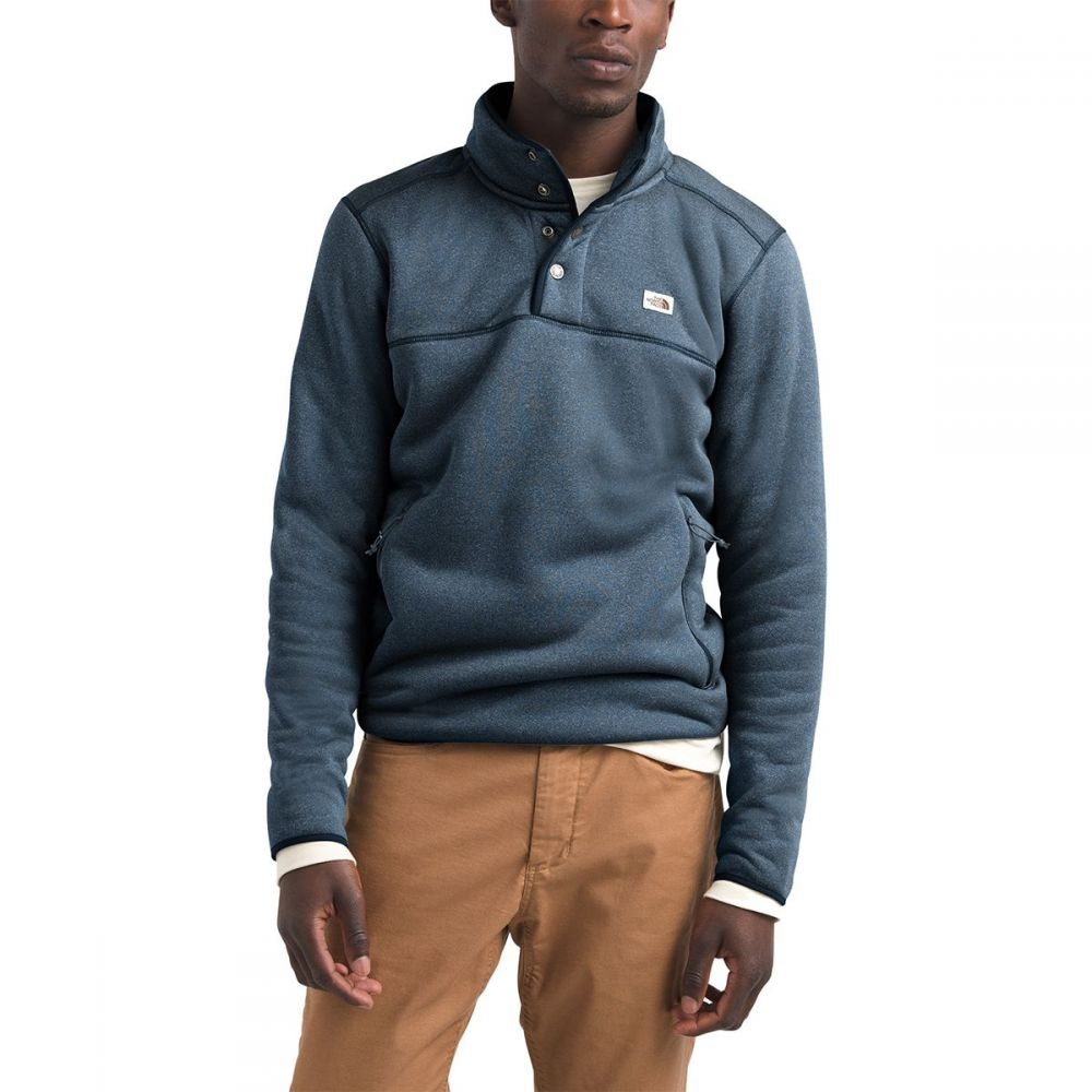 ザ ノースフェイス The North Face メンズ フリース トップス【Sherpa Patrol 1/4 - Snap Fleece Pullover Jacket】Shady Blue Heather/Peyote Beige
