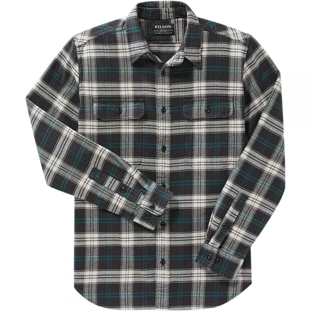 フィルソン Filson メンズ シャツ フランネルシャツ トップス【Vintage Flannel Work Shirt】Black/Teal/Cream Plaid