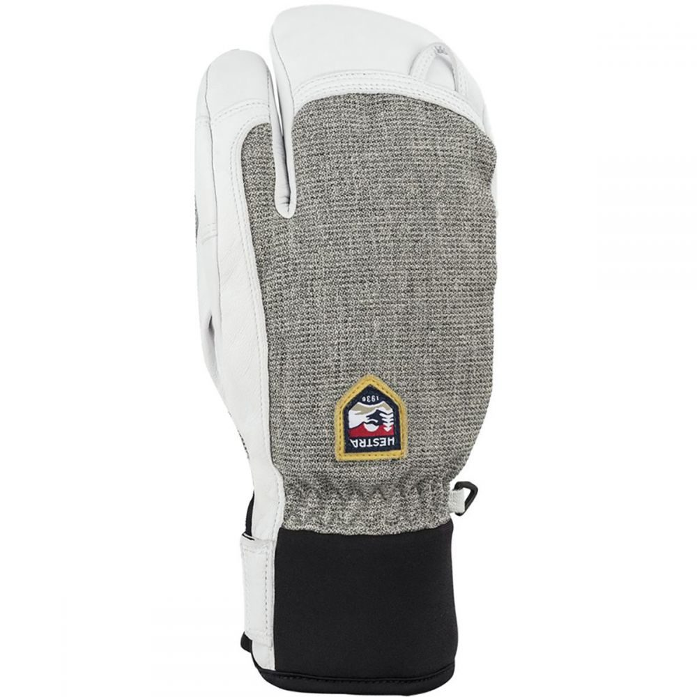 ヘスタ Hestra メンズ 手袋・グローブ 【Army Leather Patrol 3 - Finger Glove】Light Grey