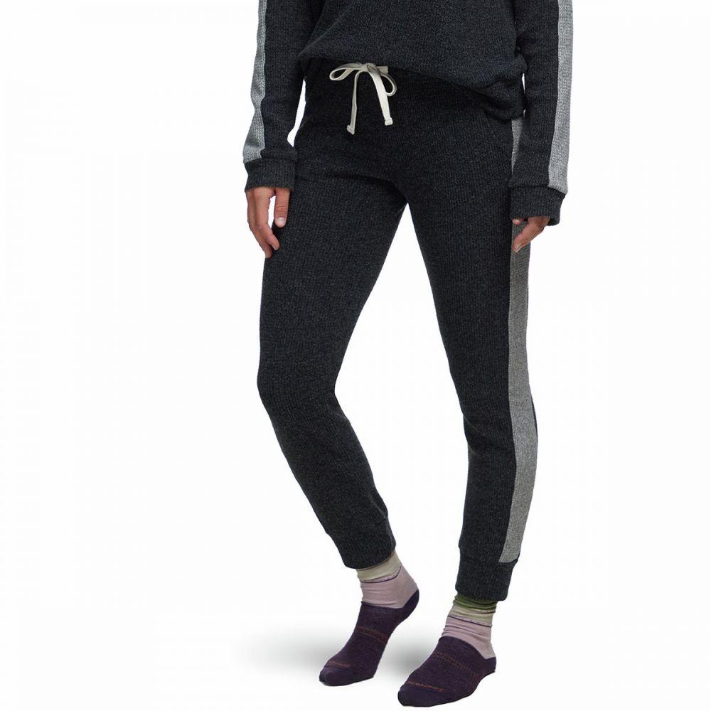 モンロー Monrow レディース スウェット・ジャージ ボトムス・パンツ【Side Stripe Girlfriend Sweat Pant】Black