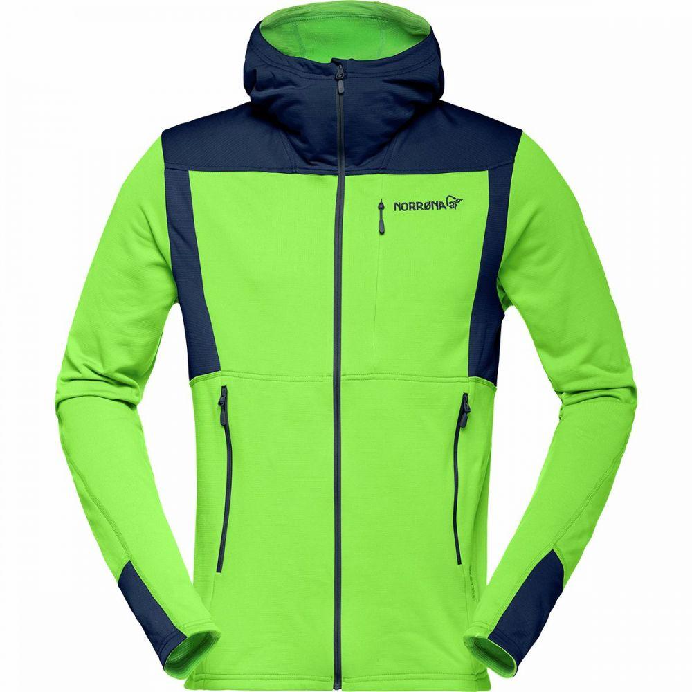 ノローナ Norrona メンズ フリース トップス【Falketind Warm1 Stretch Full - Zip Hooded Fleece】Bamboo Green