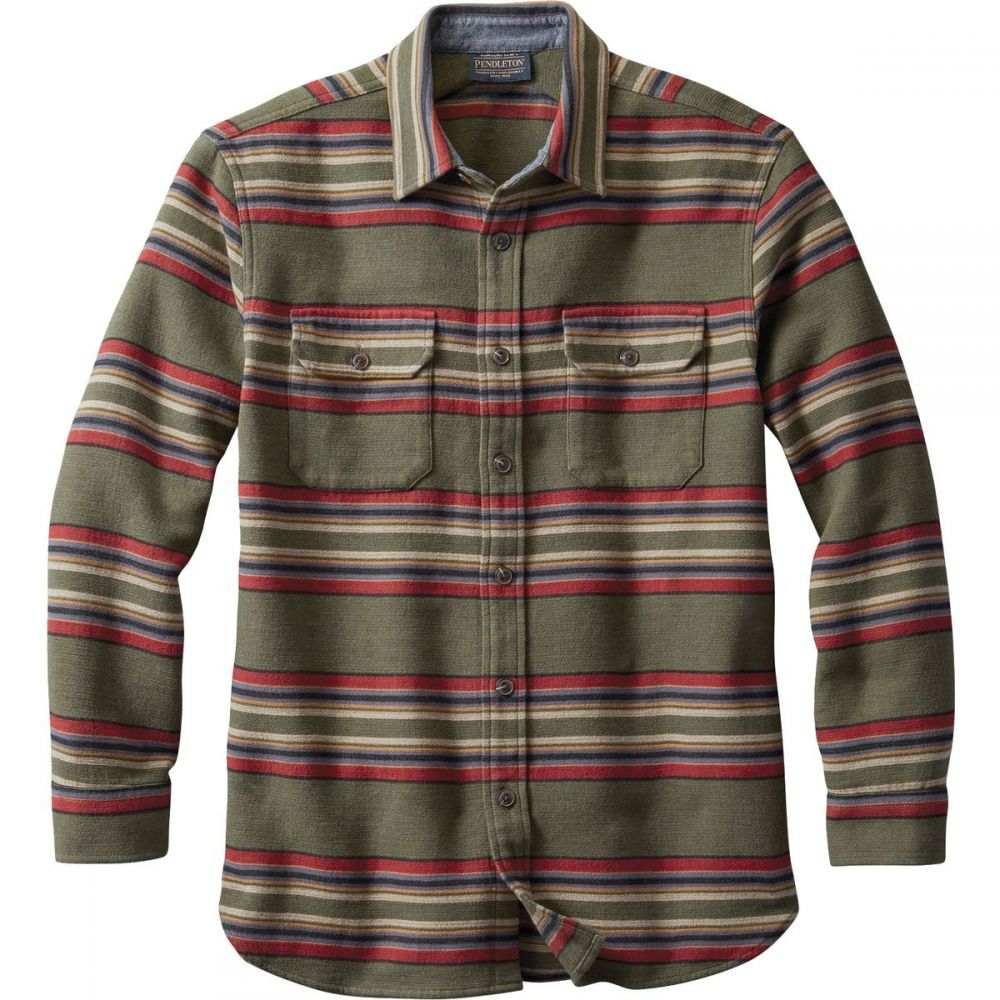 ペンドルトン Pendleton メンズ シャツ オーバーシャツ トップス【Blanket Stripe Overshirt】Green Heather Stripe