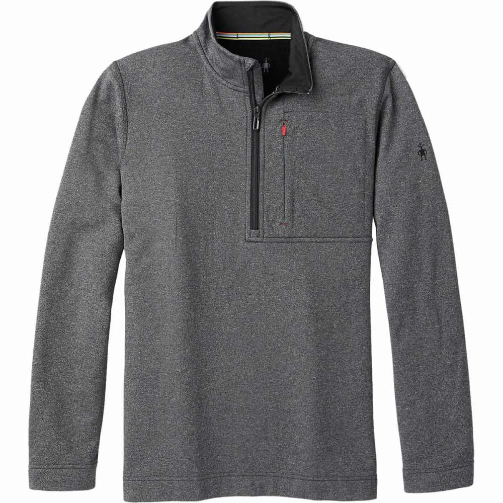 スマートウール Smartwool メンズ フリース ハーフジップ トップス【Merino Sport Fleece 1/2 - Zip Jacket】Charcoal Heather