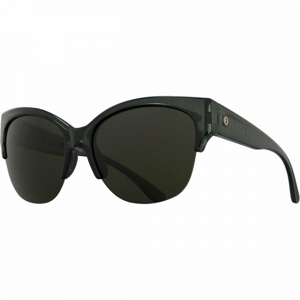 エレクトリック Electric レディース スポーツサングラス 【Danger Cat Pro Polarized Sunglasses】Gloss Mono Grey-Polar Grey