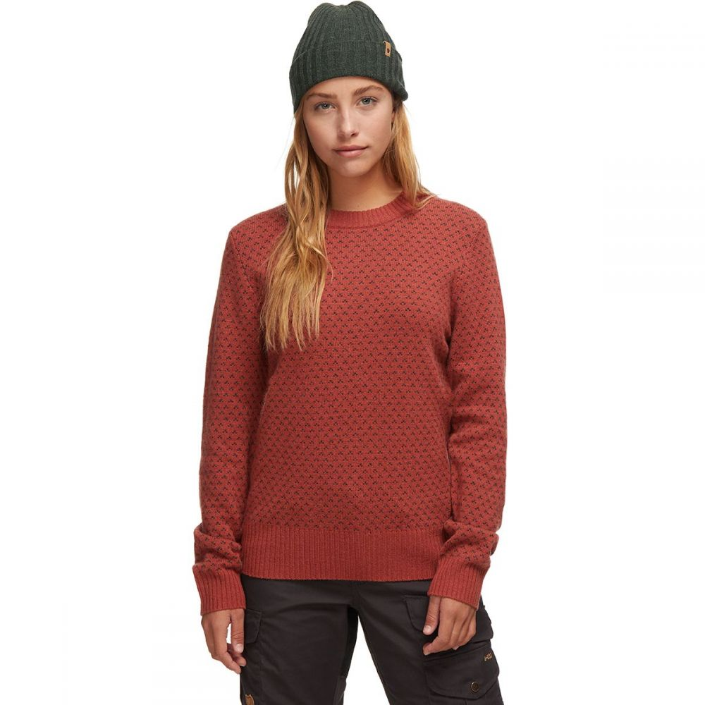 フェールラーベン Fjallraven レディース ニット・セーター トップス【Ovik Nordic Sweater】Terracotta Pink