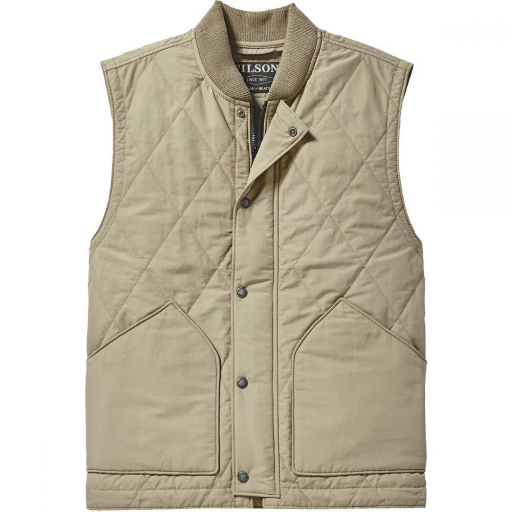 フィルソン Filson メンズ ベスト・ジレ トップス【Quilted Pack Vest】Grey/Khaki
