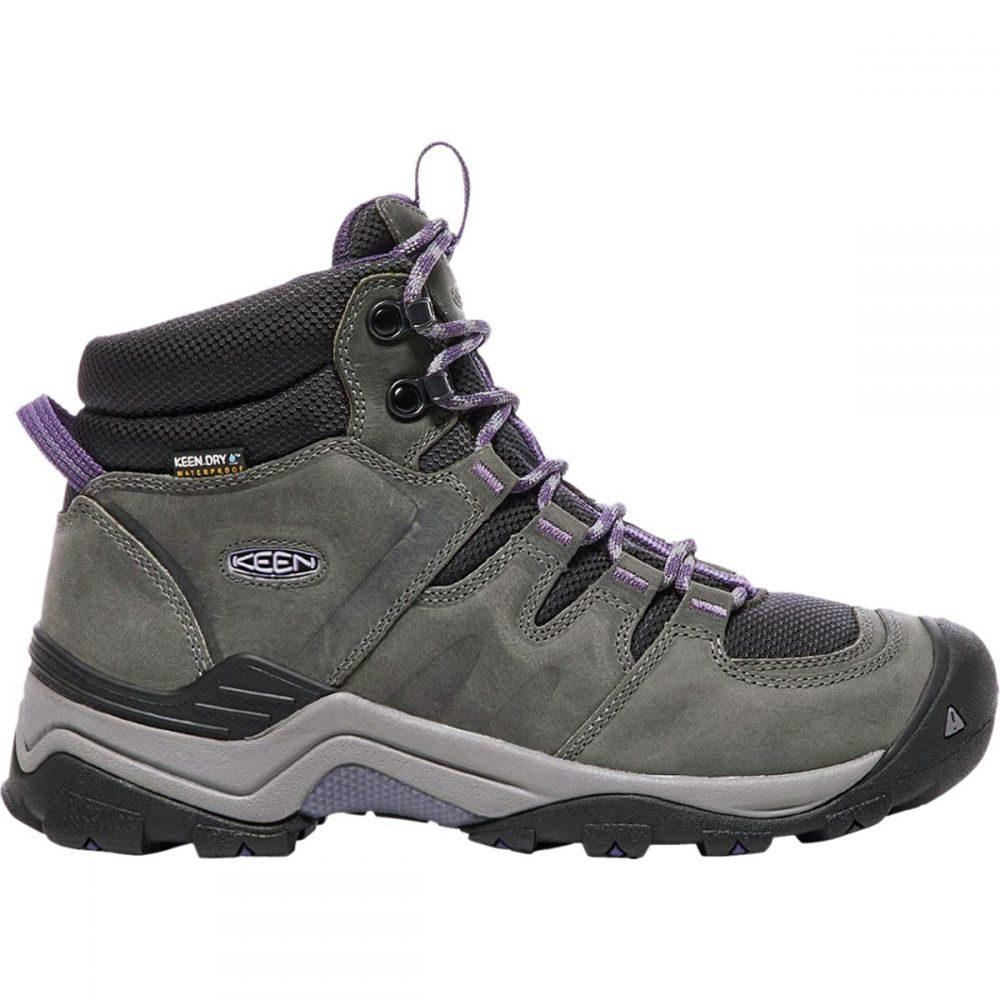 キーン KEEN レディース ハイキング・登山 ブーツ シューズ・靴【Gypsum II Mid Waterproof Hiking Boot】Earl Grey/Purple Plumeria