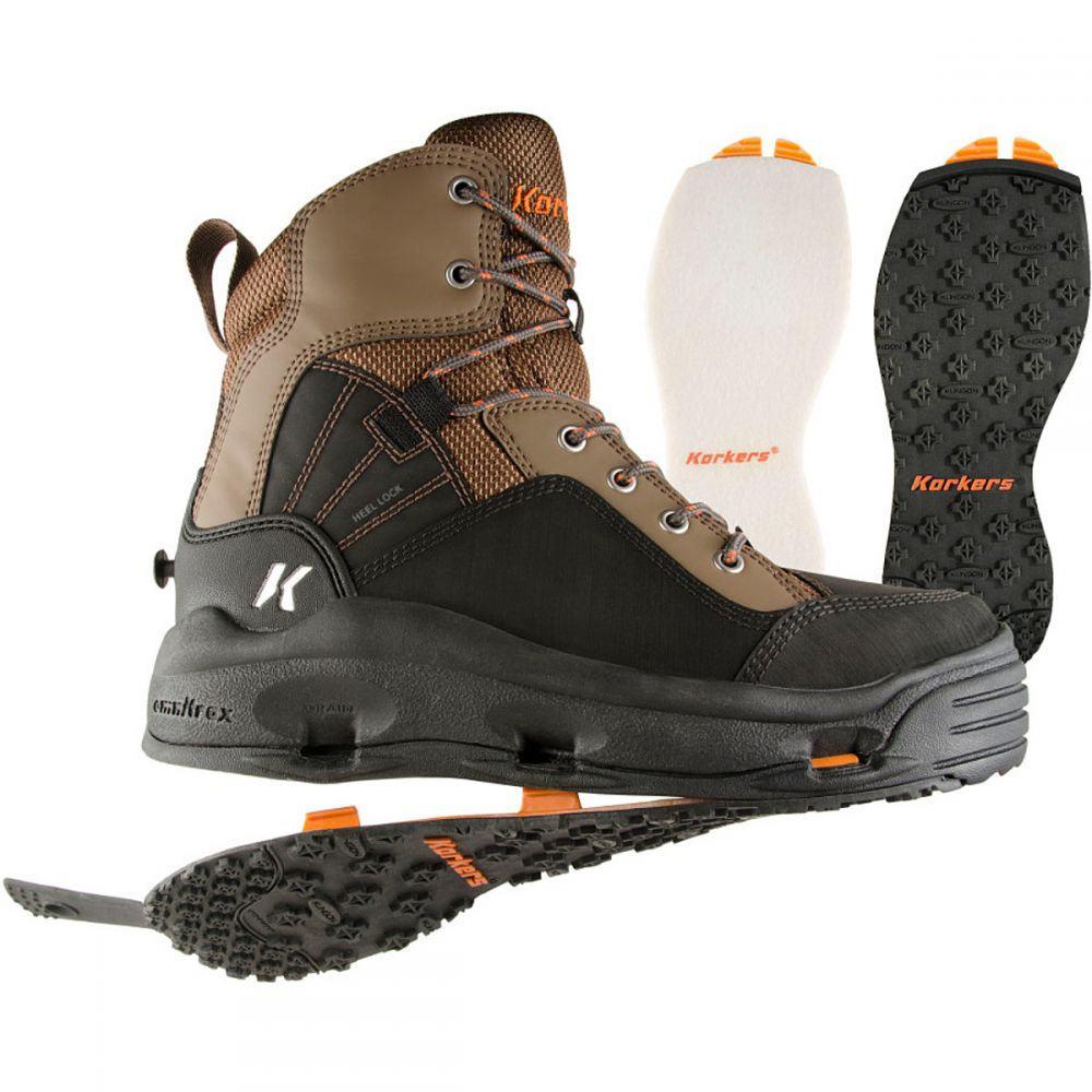 コーカーズ Korkers メンズ 釣り・フィッシング シューズ・靴【Buckskin Wading Boot】Kling-On/Felt Soles