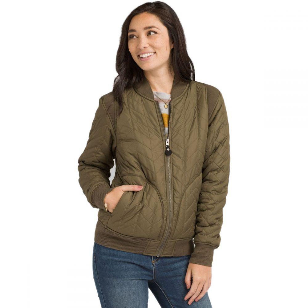 プラーナ Prana レディース ジャケット アウター【Diva Varsity Jacket】Slate Green
