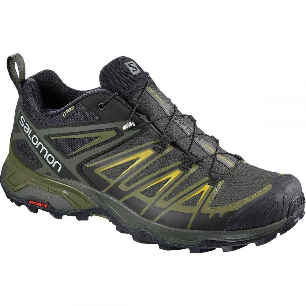 サロモン Salomon メンズ ハイキング・登山 シューズ・靴【X Ultra 3 GTX Hiking Shoe】Castor Gray/Beluga/Green Sulphur