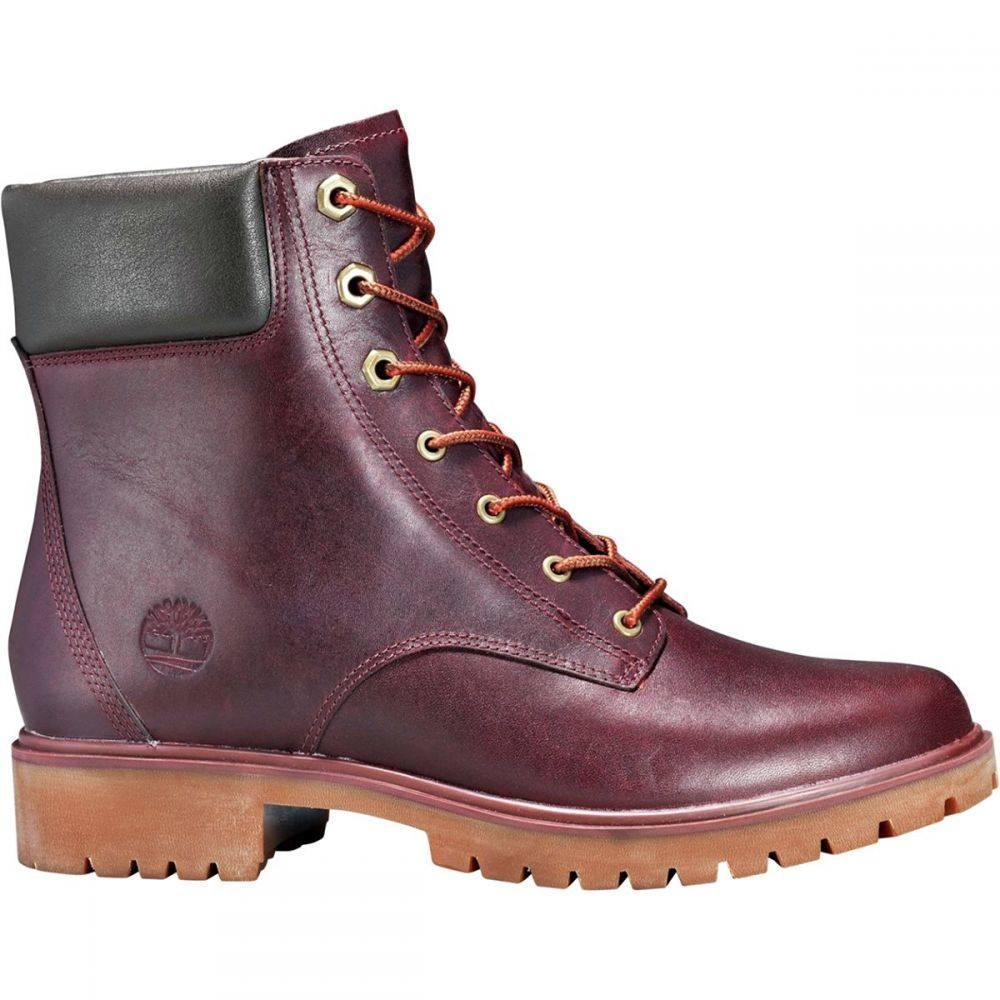 ティンバーランド Timberland レディース ブーツ シューズ・靴【Jayne 6in Waterproof Boot】Burgundy Full Grain