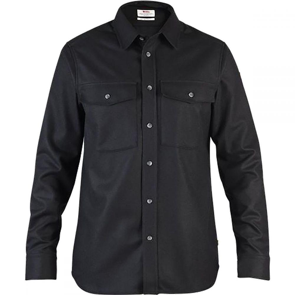 フェールラーベン Fjallraven メンズ シャツ トップス【Ovik Re - Wool Long - Sleeve Shirt】Black