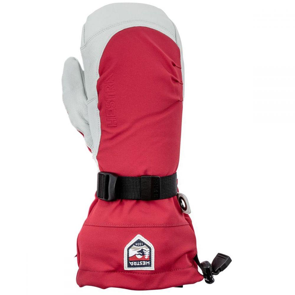 ヘスタ Hestra メンズ 手袋・グローブ ミトン【Army Leather Extreme Mitten】Red/Off White
