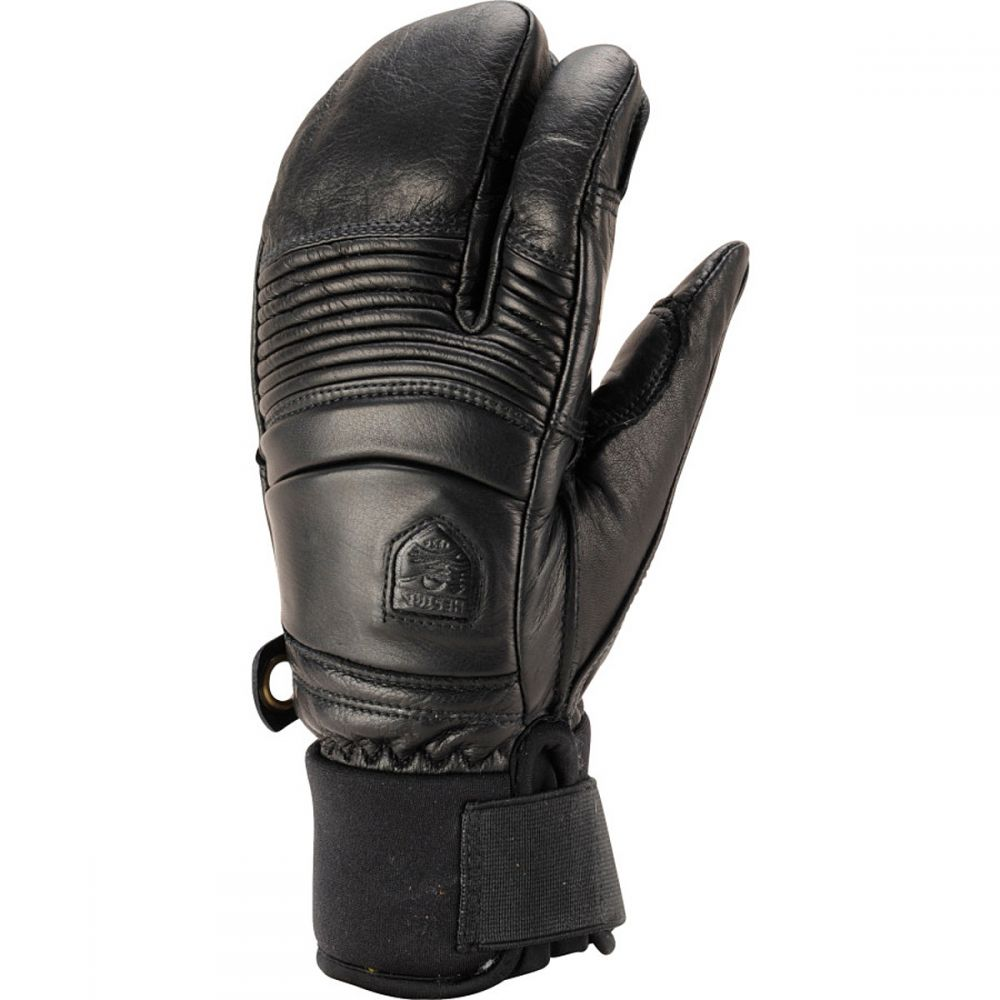 ヘスタ Hestra メンズ 手袋・グローブ 【Leather Fall Line 3 - Finger Glove】Black