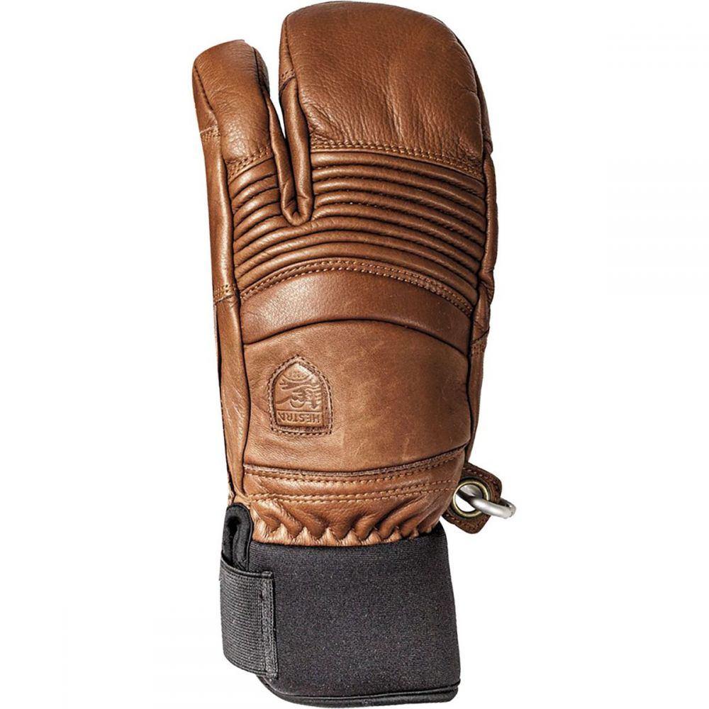 ヘスタ Hestra メンズ 手袋・グローブ 【Leather Fall Line 3 - Finger Glove】Brown