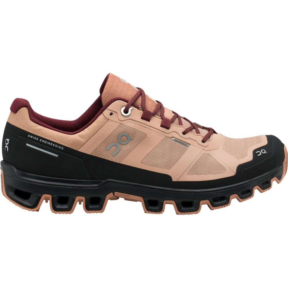 オン ON Running レディース ランニング・ウォーキング シューズ・靴【Cloudventure Waterproof Trail Running Shoe】Rosebrown/Mulberry