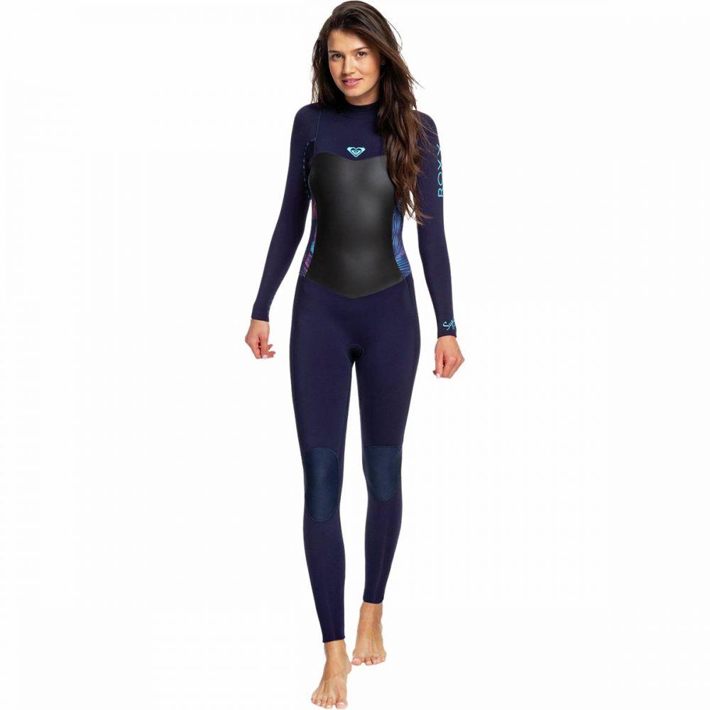 ロキシー Roxy レディース ウェットスーツ 水着・ビーチウェア【4/3 Syncro Back Zip GBS Wetsuit】Blue Ribbon/Coral Flame