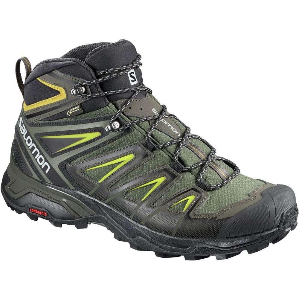 サロモン Salomon メンズ ハイキング・登山 シューズ・靴【X Ultra 3 Mid GTX Wide Hiking Boot】Castor Gray/Black/Green Sulphur