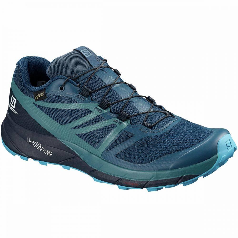 サロモン Salomon メンズ ランニング・ウォーキング シューズ・靴【Sense Ride 2 GTX Invisible Fit Trail Running Shoe】Poseidon/Navy Blazer/Hawaiian Ocean