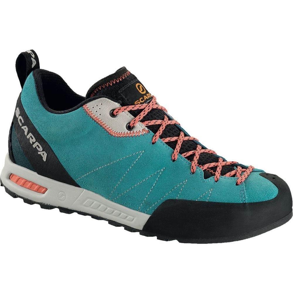 スカルパ Scarpa レディース クライミング シューズ・靴【Gecko Approach Shoe】Ice Fall/Coral Red