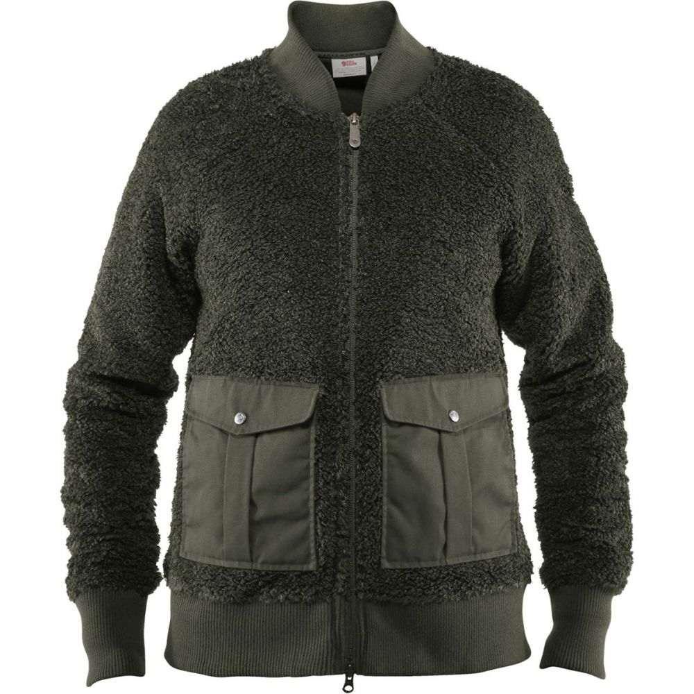 フェールラーベン Fjallraven レディース フリース トップス【Greenland Pile Fleece Jacket】Deep Forest