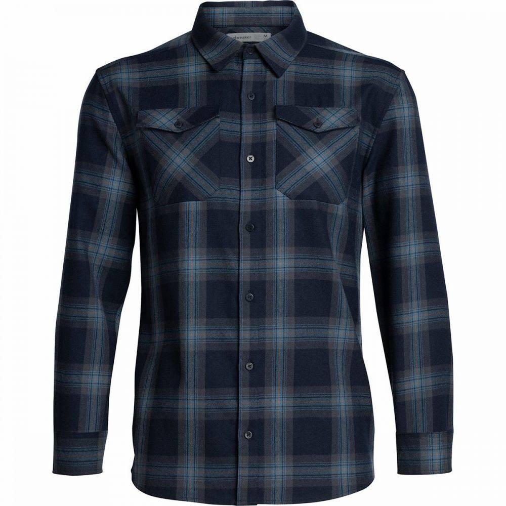 アイスブレーカー Icebreaker メンズ シャツ フランネルシャツ トップス【Lodge Flannel Shirt】Midnight Navy