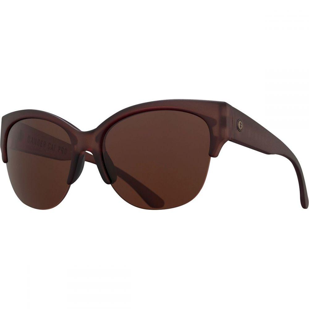 エレクトリック Electric レディース スポーツサングラス 【Danger Cat Pro Polarized Sunglasses】Matte Mono Rose-Polar Rose Plus